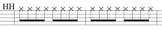 DrumBeat1-HH notes